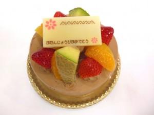 フレッシュチョコのデコレーションケーキ